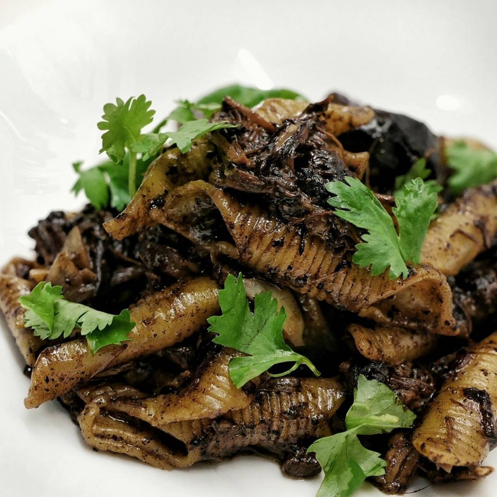 Penne tossed in a homemade pork prime rib and buakhellip