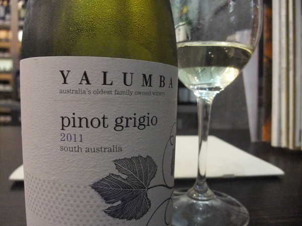 Up and coming white wine, Pinot Grigio.