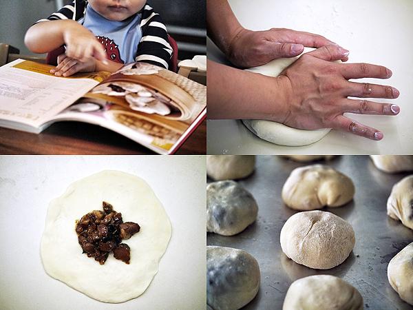 making baked char siu bao