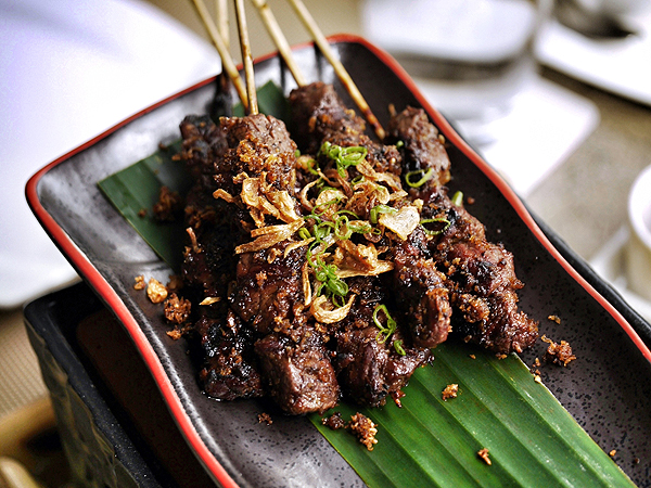 angus beef satay from moluccas room