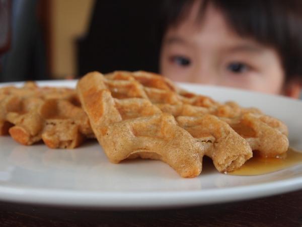 eyeing waffles