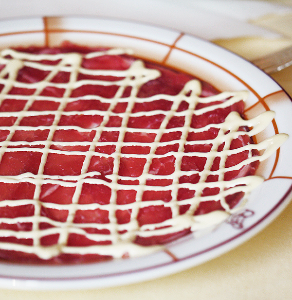 Carpaccio from Harry's Bar in Venice