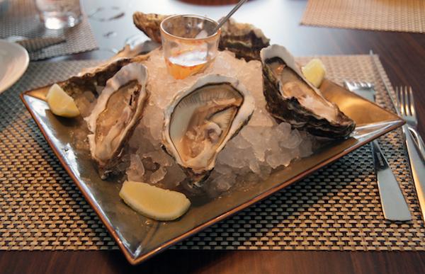 Big and succulent Gillardeau no.1 oysters at Gattopardo