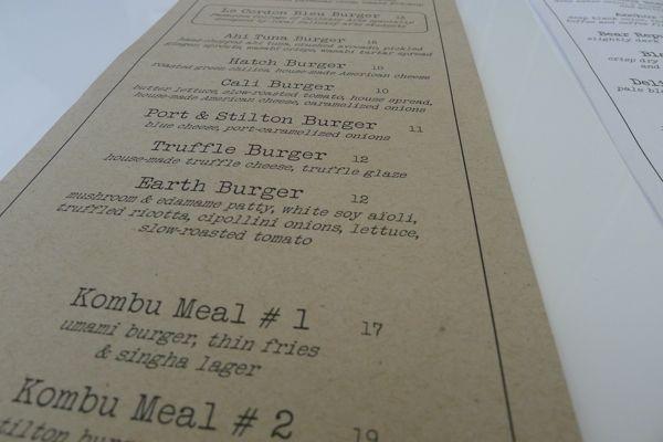 Umami Burger - menu
