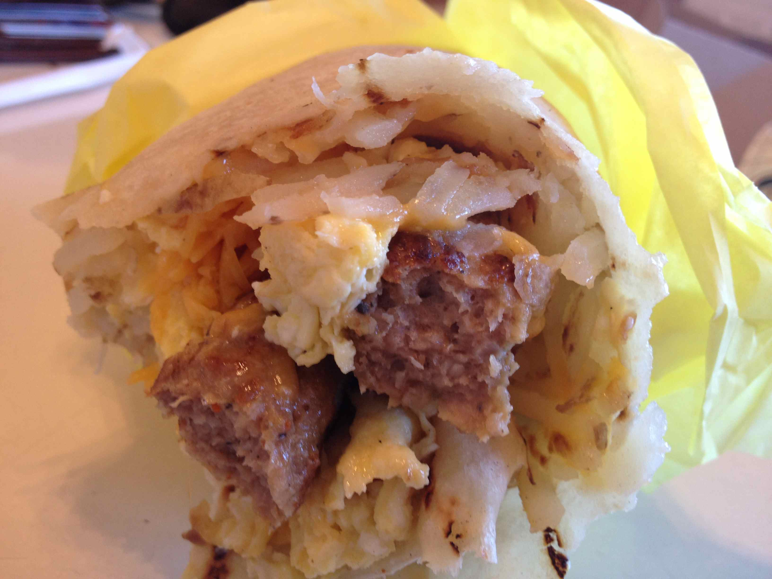 Lucky Boy - Breakfast Burrito with sausage