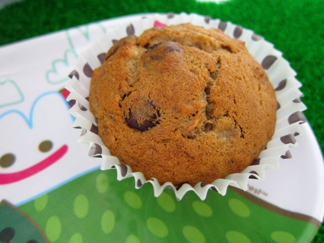 Banana nuts chocolate chips muffin