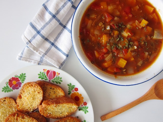 Puy lentil soup with Parmesan toast_1