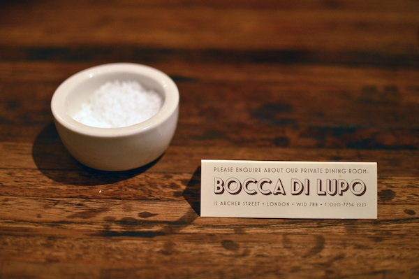 Bocca di Lupo, a delightful casual Italian eatery in London's theatre district