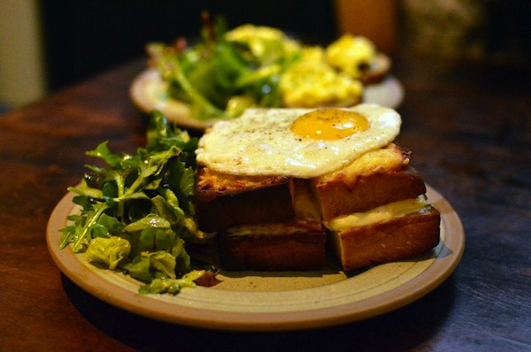 Cafe Gavroche Croque Madame shot