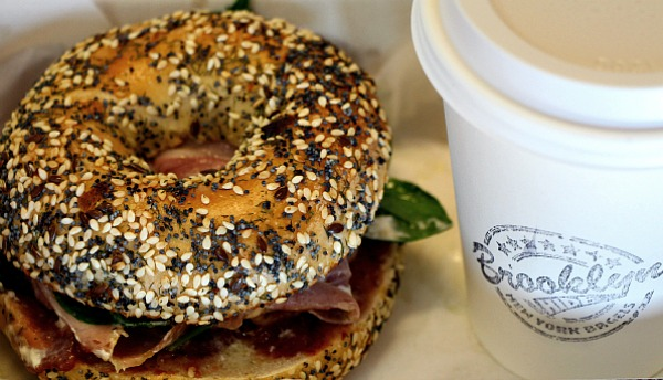 everything bagel with alpaca ham