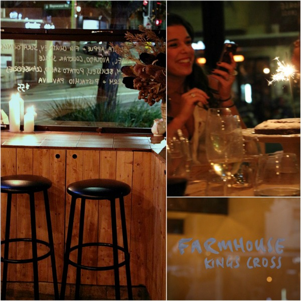 share a dinner table at farmhouse