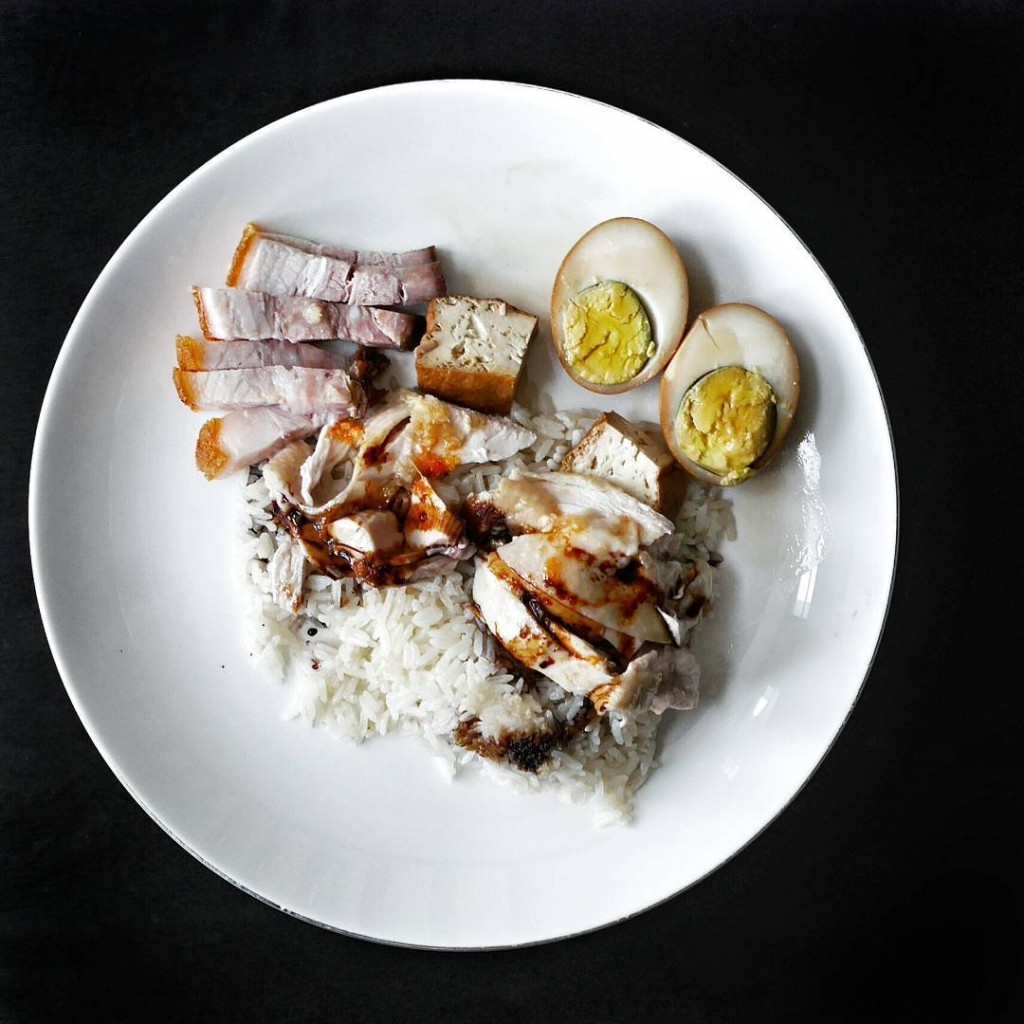 Old school chicken and roast pork rice Saturday lunch boughthellip
