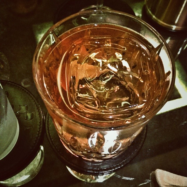 Fabulous Old Fashioned at Manhattan bar at the Regent Hotel. Not sure if you can tell from my crappy handphone photo, but the ice cube was actually formed with the bar's logo imprinted in it. Very cool and very subtle. #sgdrinks #bar #oldfashioned #manhattanbarsg #regentsingapore #coolice