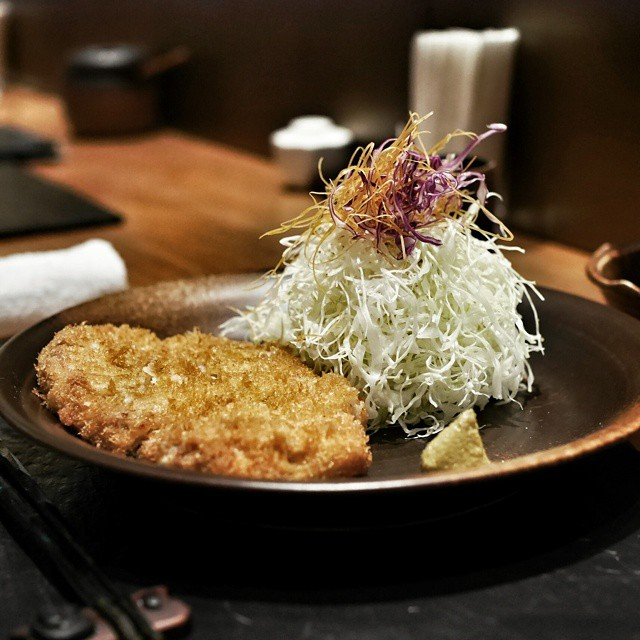 Already missing all the great food I had in Tokyo. This is the kurabuta pork loin katsu from Katsuzen, a Michelin starred tonkatsu restaurant in Ginza. In the same building as Barney's. Very good pork. Super zen, peaceful environment. This is now my wife's preferred katsu restaurant I'm Tokyo. #foodie #foodporn #foodphotography #japan #tokyo #travel #tonkatsu #katsu #kurabuta #pork #oinkoink #michelin #delicious #ginza #latergram