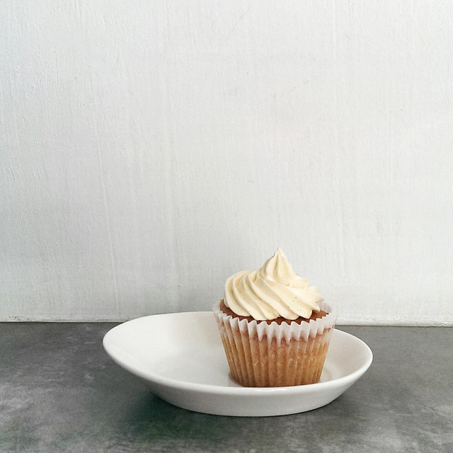 Afternoon treat for me and the little one. We split a vanilla cupcake from the @cupcakeengineer. He doesn't eat frosting so I got the top while he had the bulk of the cake. #sgfood #foodie #foodporn #foodphotography #sgeats #cupcake #fatherandson #foodieintraining #cupcakeengineer #vanilla #yummy #pickmeup #sweettreat #sweettooth