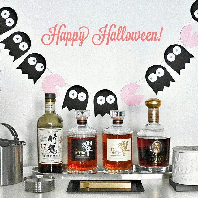 Happy Halloween! Drink lots but be safe and only drink the good stuff! #halloween #booze #whisky #diplomatico #thegoodstuff #sgdrinks #homebar #japanesewhisky