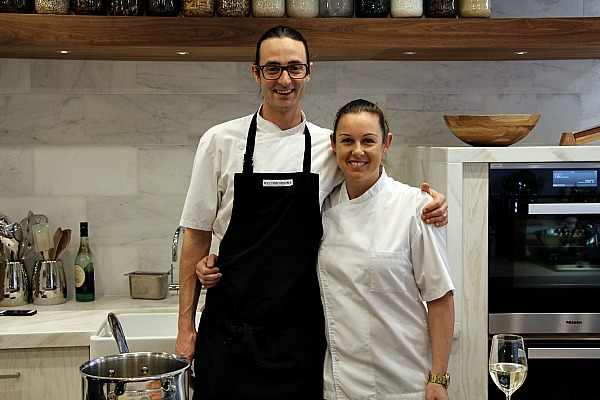 Chef Julien Vasseur assisting Chef Hulya Suleyman