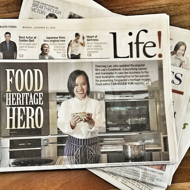 So nice to see my old friend Shermay on the cover of the life section of #thestraitstimes. I'm still waiting (impatiently) for the day our government gives our food heroes the same honours we give our artists. Like a Cultural Medallion for example. #shermaylee #foodhero #presscoverage #singapore @shermayscookingsch