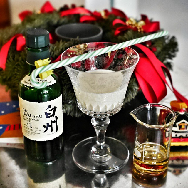 Tis the season for... Eggnog!!! Whipped up our annual batch of eggnog for the festive season. Love it spiked with Hakushu 12 year old Japanese whisky. Mmmmm. This is what Christmas is about. #foodie #eggnog #christmasspirit #christmas #xmas #holiday #festiveseason #spikeddrink #hakushu #japanesewhisky #whisky #drinkporn #drunk #sgdrinks