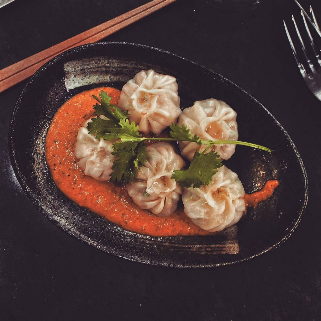 Totally addicted to these Nepalese chicken dumplings momos served withhellip