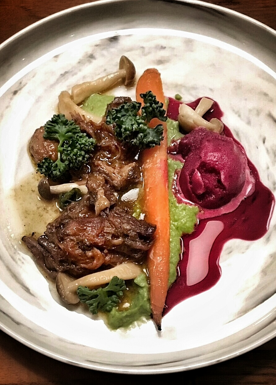 oxtail and beetroot