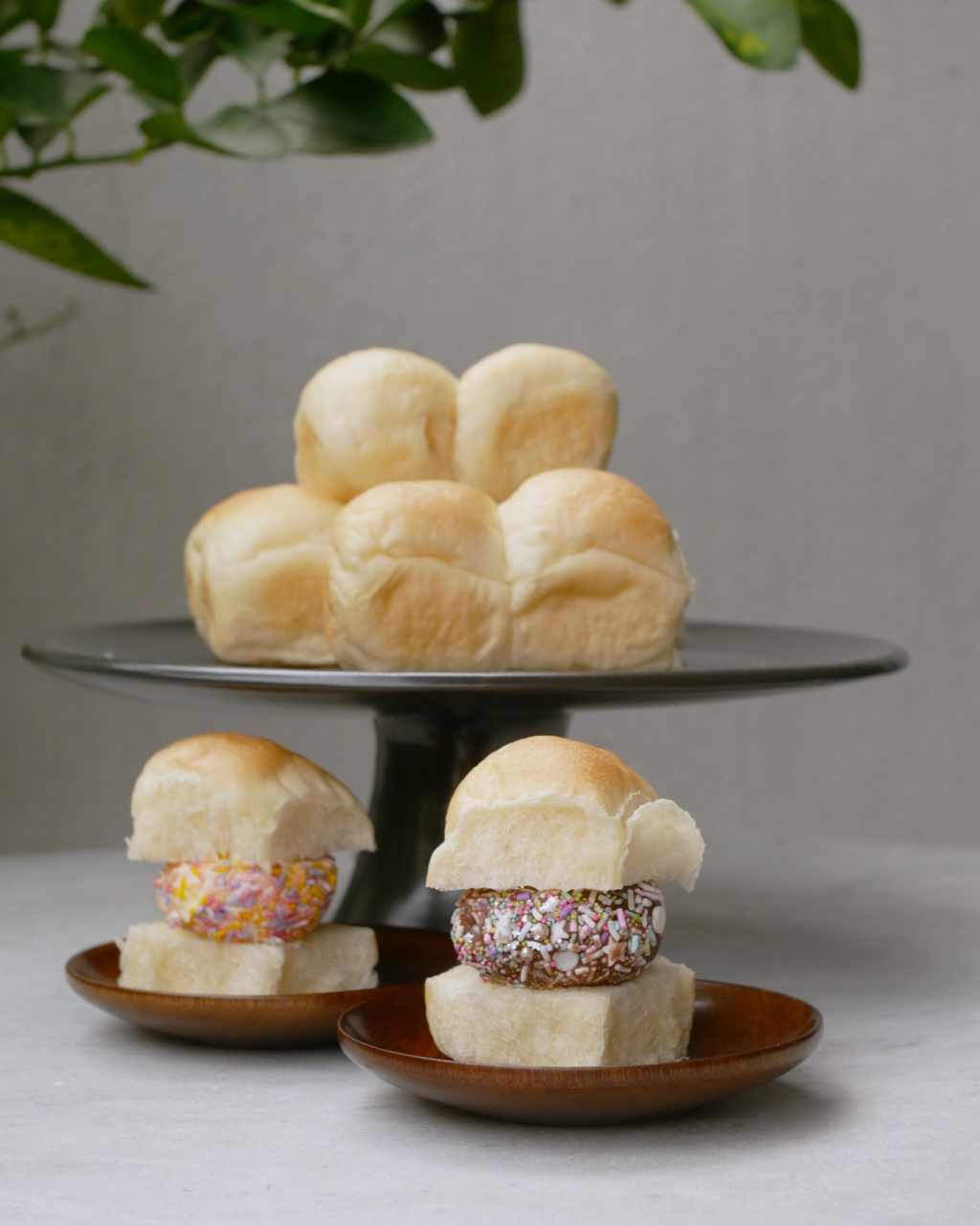 Fluffy Asian style pull apart buns